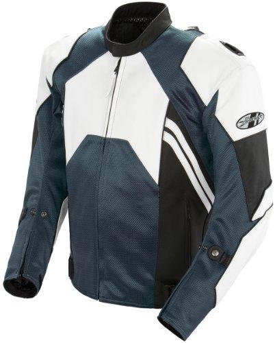 Joe Rocket Radar Men's Motorcycle Jacket (White/Gun Metal, Size 42)