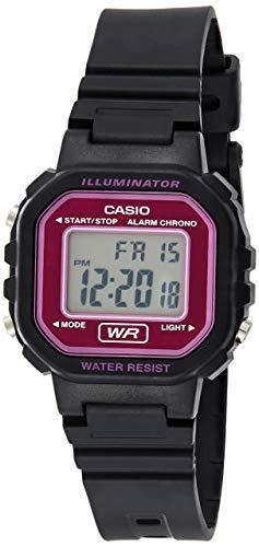 CASIO 19842 LA-20WH-4A - Reloj Señora Cuarzo Correa de Caucho Negro