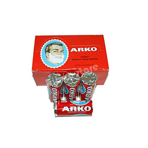 Arko Rasierseife Shaving Cream Soap Stick 10-er Pack