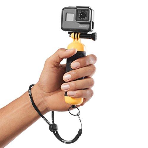 AmazonBasics Floating Waterproof GoPro Mount Hand Grip Handle - 2.5 x 1.5 x 6 Inches, Yellow