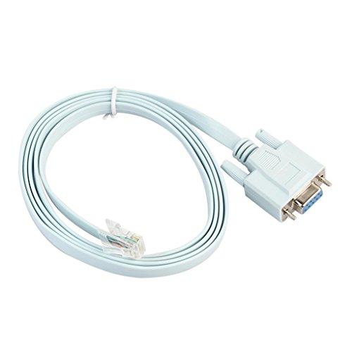 B Blesiya Nuevo Cable para Cisco 72-3383-01 RJ-45 a DB-9 Cable de...