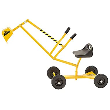 Reeves International The Big Dig and Roll Ride-On Working Excavator with Wheels, Excavator Crane with 360° Rotation…