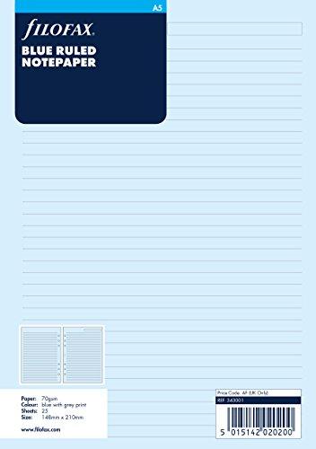 Filofax - Recambio de hojas para archivador (tamaño A5, a rayas), color...