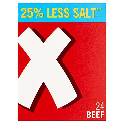 Oxo 25% Less Salt 24 Beef Stock Cubes 142 g