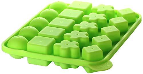 Yoko Design 1208 Moule à Cake Pops Multiforme Silicone/Platine Vert 19.5 x 24 cm