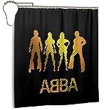 Best of Abba - Cortina de ducha estándar impermeable para baño, 168 x 183 cm