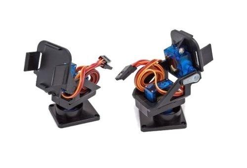 Supporto pan tilt 2 assi per servo motore SG90 MG90 per videocamere (arduino-compatibile)
