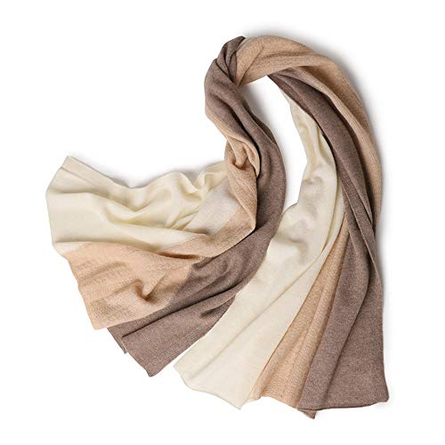 Dhmm123 Bufandas cálidas Bufanda de Mujer Costura de Lana Cálido Knit Winter Shawl Soft Wild Collar (Color : Pink Stitching, Size : One Size)