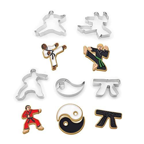 Fox Run Brands 36034 Karate Keks-Ausstechformen, edelstahl, metallisch