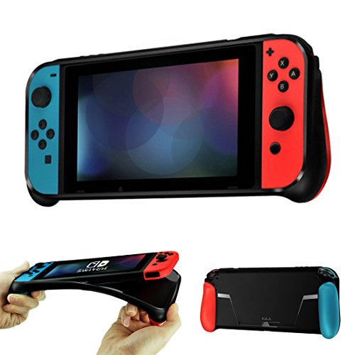 Opard Nintendo Switch Hülle Schutzhülle Silikonhülle haben Game Karten Slot Griff und rutschfeste Anti-Scratch