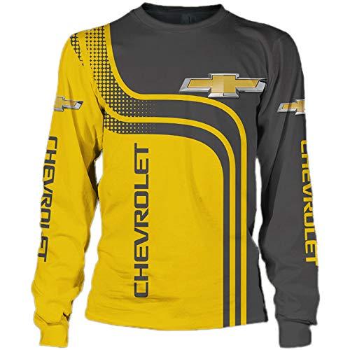 SPORTYAN Herren Hooded Jacke,Hoodie,T-Shirt Chevrolet Voll 3D Drucken Leicht Sweatshirt Unisex Beiläufig Sportkleidung Y/D/M
