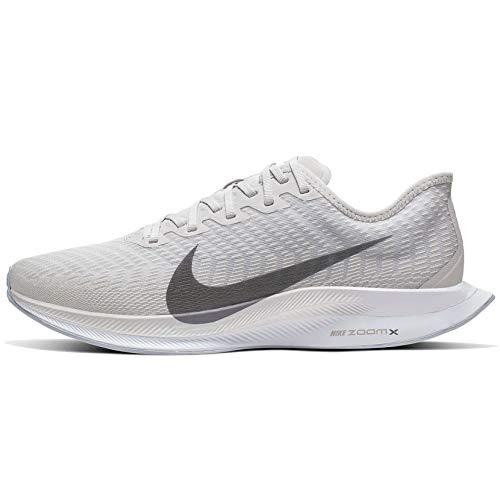 Nike Mens Zoom Pegasus Turbo 2 Running Shoes (8.5-M, Grey/White)