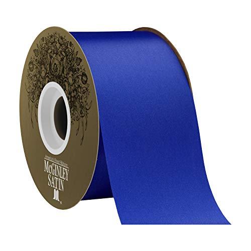 "Berwick Offray 2.5"" Polyester Lustre Satin Ribbon, Royal Blue, 50 Yards"