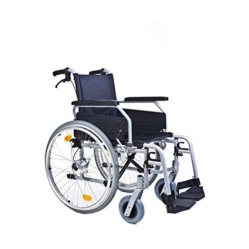 bescomedical Rollstuhl Primus MS 2.0, Faltbar, Trommelbremse mit Steckachsensystem, Sitzbreite 49 cm