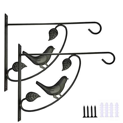 anruo IJzeren mandbeugel haakbeugel lantaarn, bloempot hanger, geschikt voor binnen hangend vogelvoeder opbergrek en hanger
