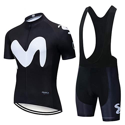 UIMED Traje de maillot de ciclismo maillot de manga corta + culotte de ciclismo con tejido transpirable y de secado rápido utilizado para bicicletas de montaña de carreras