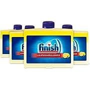 Finish Geschirrspülerreiniger, 250 ml, 5 x Power Actions, Reiniger mit Zitronenduft, 4er-Packung