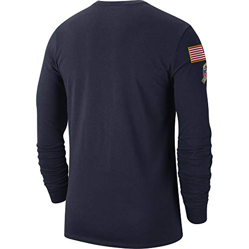 Dallas Cowboys NFL Mens Nike Salute to Service Local Long Sleeve Tee, Navy, Large