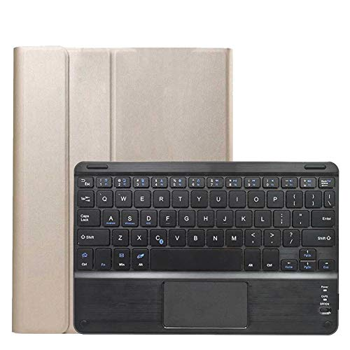 GHC PAD Cases & Covers For iPad Air 4 10.9 2020, Wireless Bluetooth Detachable Keyboard Folio Smart Tablet Protective Case TPU Cover For iPad Air 4 10.9 2020 (Color : Gold)