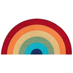 "Novogratz by Momeni Cucina Collection Kitchen Mat, Area Rug, 1'5″ X 2'10"" Half Moon, Multi"