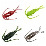 36 Pack Ned Rig Baits Bass Sea Fishing Kit Bass Fishing Crappie Soft Lure Crawfish Bait Shrimp Lobster Claw Topwater Bass Lures for Lake Fishing (6cm/1.8g-36pcs)
