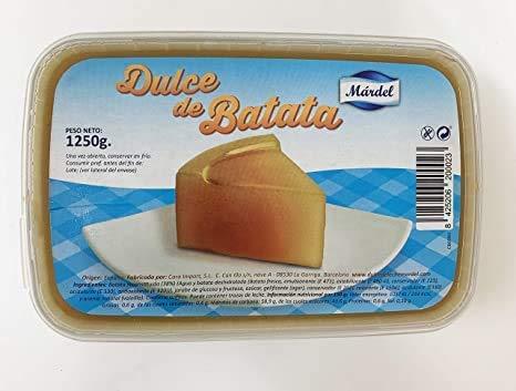 Mardel - Dulce de Batata ( Boniato ) - Ideal para Hacer Vigilante ( Postre Argentino) - Exquisito para Comer en Cualquier Momento del Día - 1250 Gramos