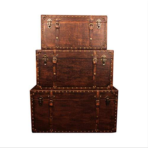 WRR Retro Caja de Madera Grande Caja Europeo para la recepción y el Acabado
