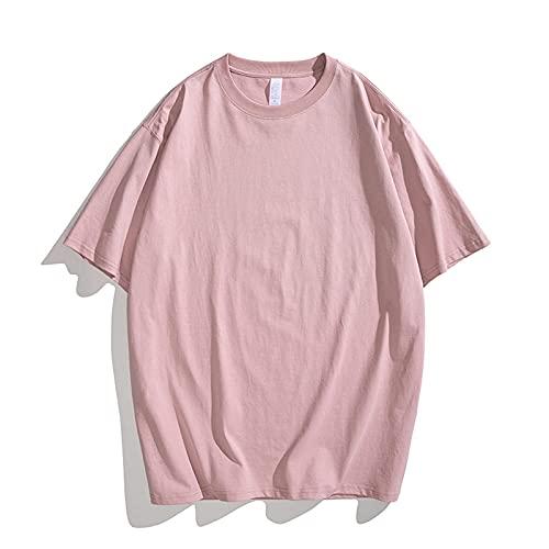 Nuevo 2021 Camiseta Hombre Manga corta Verano Color sólido Moda Diario Suelto Casual T-shirt Pesado Camiseta Blusas camisas originales Cuello redondo suave básica Cómodo Deportes Fitness camiseta