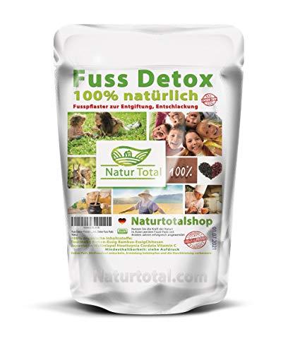 Fuss Detox Pflaster - Fusspflaster mit Turmalin zur Entgiftung, Entschlackung 100% natürlich für ca. 3 Monate