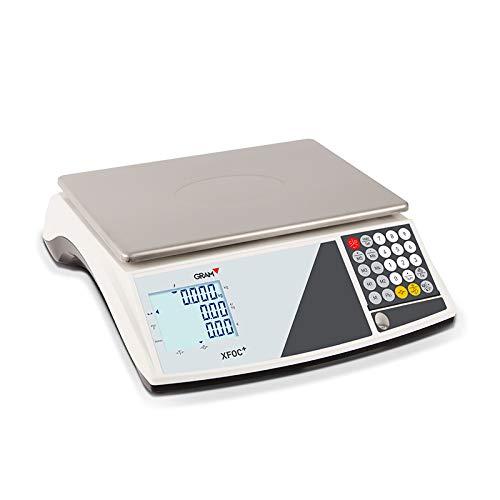 Balanza para mostrador con peso y precio, ideal para mercadillos y venta ambulante, 15/30kg, precisión de 5/10g