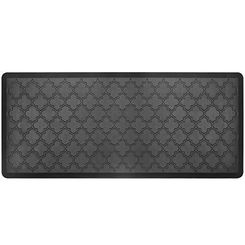 "HEBE Kitchen Mat Cushioned Anti Fatigue Floor Mat Waterproof Non-Slip Kitchen Rug Floor Carpet Heavy Duty Comfort Standing Mat Pads,20""x39"",Black"