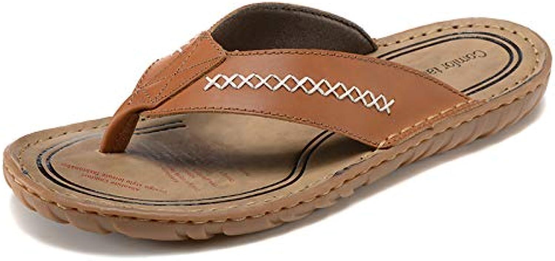 Shukun Men's flip flops Summer Men'S Flip-Flops Add Fertilizer To Increase Beach shoes Non-Slip Pu Slippers Sandals Male
