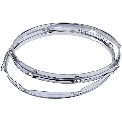 xiaoyu shop Par de aro de tambor fundido a presión de 8 lengüetas – lado de la masa – aleación de zinc – 13 pulgadas 1,5 mm