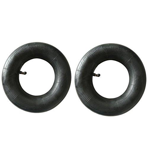 Ruichang 2 x 410/350–5 4.10/3.50–5 Pneu Chambre à air courbé en métal Valve pour Go Kart pour pelouse et jardin