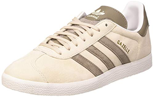 adidas Gazelle, Scarpe da Ginnastica Uomo, Crystal White/Clear Brown/Simple Brown, 44 EU