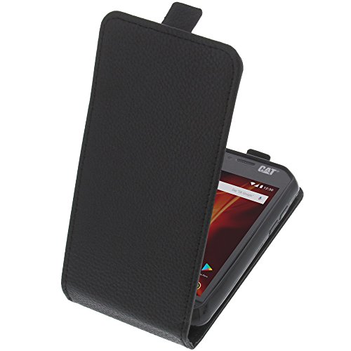 foto-kontor Tasche für CAT S31 Smartphone Flipstyle Schutz Hülle schwarz