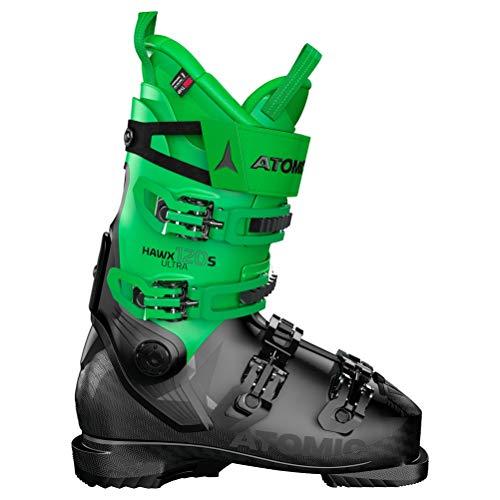 Atomic HAWX Ultra 120 S, Chaussures de Ski Mixte Adulte - Noir - Noir/Vert, 39 EU EU