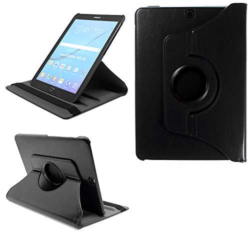 COOVY® 2.0 Cover für Samsung Galaxy Tab S2 9.7 SM-T810 SM-T813 SM-T815 SM-T819 Rotation 360° Smart Hülle Tasche Etui Hülle Schutz Ständer Auto Sleep/Wake up | schwarz