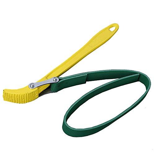 Chiave a nastro per aprire/svitare filtri dell'olio, barattoli, tubi e latte; Nastro in gomma regolabile; usata da meccanici e idraulici (circa 23cm)
