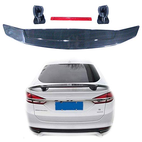 OTQEALY achterklep spoiler, universele achtervleugel wijziging voor Sedan auto, gratis ponsen vleugel met koolstofvezel Gt vliegtuig vleugel, verbeterde grip/liften balans/sport mode A