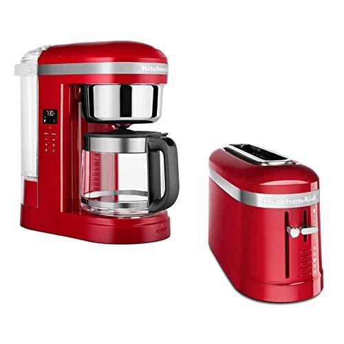 KitchenAid Frühstücksset mit Drip Kaffeemaschine und 2 Scheiben Toaster (Empire Rot)