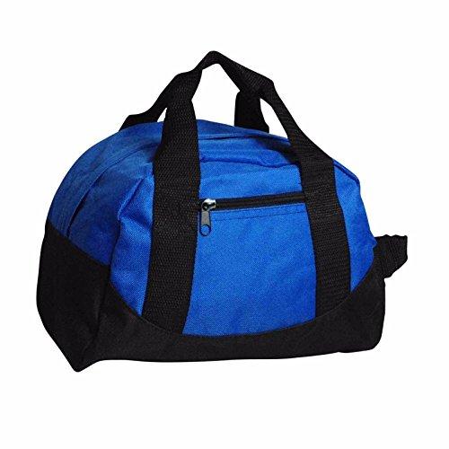 Mini-Sporttasche, Reisetasche, Handgepäck, 30,5 cm, Königsblau, Rot, Gelb, königsblau (Blau) - 722851881927