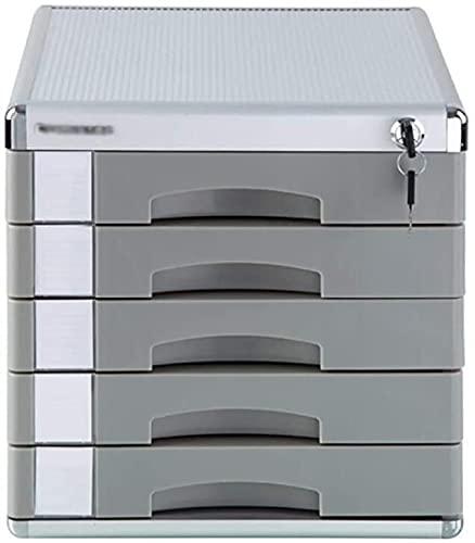 Cajonera de Oficina,Archivador para Oficina Archivo Gabinete Diferente Profundión Plano Archivo Armario Aluminio Aleación Sensible Apariencia Volumen Etiqueta en blanco Plástico - 31 x 37 x 31.3cm