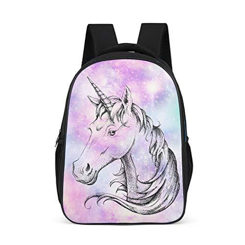 Fineiwillgo Mochila con diseño de unicornio, práctica mochila de ocio para mujer, camping, gris, talla única