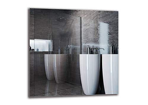 Spiegel Standard - Spiegel Rahmenloser - Spiegelmaßen 60x60 cm - Badspiegel - Wandspiegel - Badezimmer - Wohnzimmer - Küche - Flur - M1ST-01-60x60 - ARTTOR