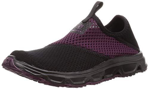 Salomon Damen Erholungsschuhe, RX MOC 4.0 W, Farbe: schwarz/violett (black/black/potent purple) Größe: EU 41 1/3