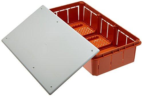 Electraline 60413 Cassetta di Derivazione da Incasso, IP44, Bianco/Arancione, 290 x 150 x 70 mm