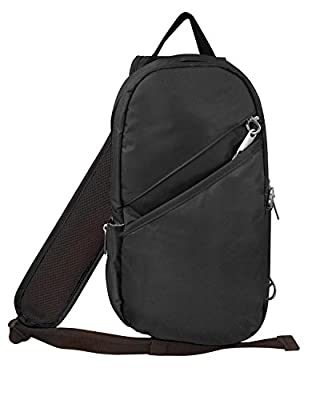 Roma Leathers Concealment Sling Bag - Premium Black Nylon - Small Cross BodyBag - Anti Theft Clips - CCW Backpack - Designed in U.S.A.