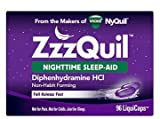 ZzzQuil Nighttime Sleep Aid Liquidcaps, 96 ct, Non-Habit Forming, Fall Asleep Fast and Wake Refreshed