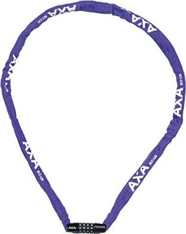 AXA cijfer-kettingslot Rigid RCC lengte: 120 cm, 4-voudige cijfercombinatie gering gewicht, 3,5 x 3,5 dikke kettingschakels, incl. nylon beschermhoes, violet